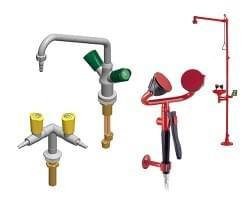 Laboratórne armatúry TOF a bezpečnostné sprchy