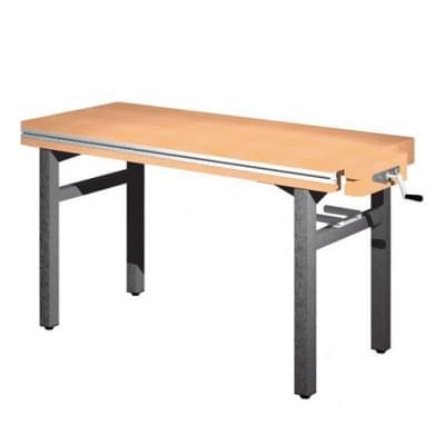 Dielenský stôl 1 300 × 650 × 800 - pevná výška, 1× zverák stolársky vpravo