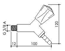 Laboratorní plynový kohout TOF 2000/3