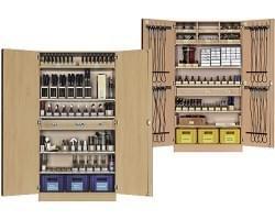 Dielenské skrine s vybavením
