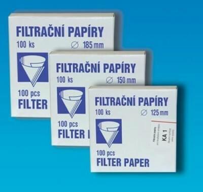 Papier filtr. kvalitatívny, kruh. výsek, Typ KA 1, průměr 200 mm