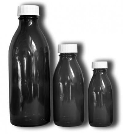Fľaša úzkohrdlá so závitom - liekovka, hnedá, na uzáver PP  28