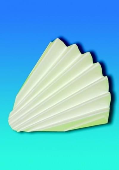 Filtrační papír pro kvalitativní analýzu - kruhové výseky skládané, typ 1291, průměr 150 mm