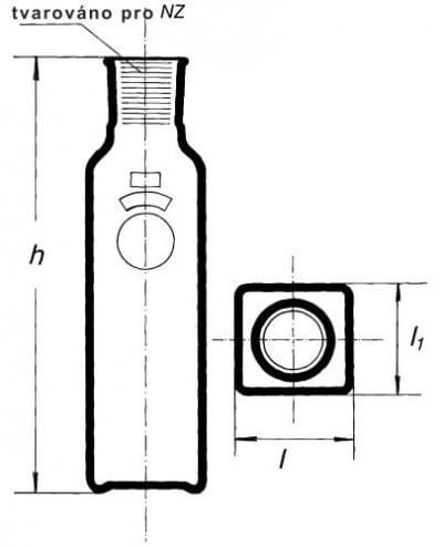Fľaša kultivačná podľa Blacka s NZ, 150 ml