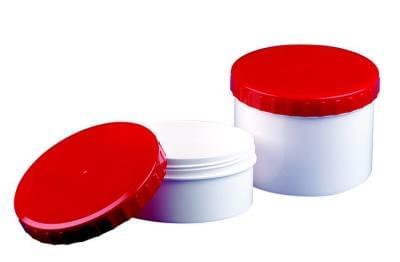 35261 Kelímek Topitec, 500g - bílý s červeným šroubovacím uzávěrem