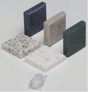 Corian (umelý kameň) 50 × 50 × 12mm