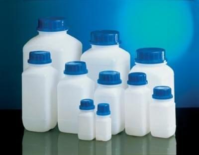 Fľaša reagenčná s UN kódom, HDPE, širokohrdlá, priesvitná, bez uzáveru, 100 ml