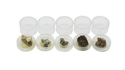 7010 - Sada 5 minerálov - pre stereoskopiu