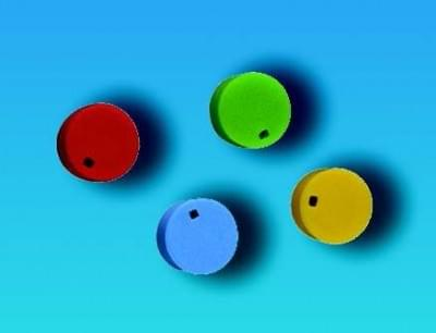 Farebné rozlišovače na uzávery, PP, biele