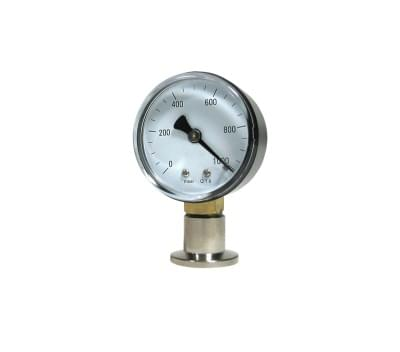 600201-1 - Bourdonov tlakomer, VMF 16 nerezový, DN 16 KF