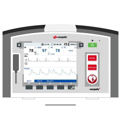 8000966 - Simulátor obrazovky pacientskeho monitoru corpuls1 pre REALITi360