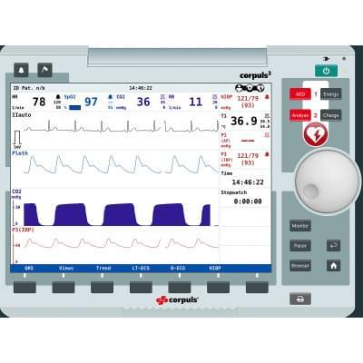 8000967 - Simulátor obrazovky pacientskeho monitoru corpuls3 pre REALITi360