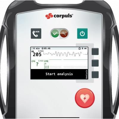 8000968 - Simulátor obrazovky defibrilátoru corpuls® AED pre REALITi360