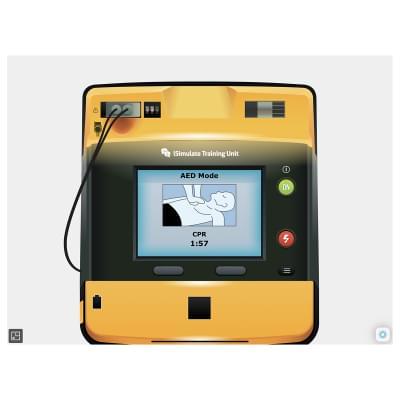 8000970 - Simulátor obrazovky pacientskeho monitoru LIFEPAK® 1000 pre REALITi360