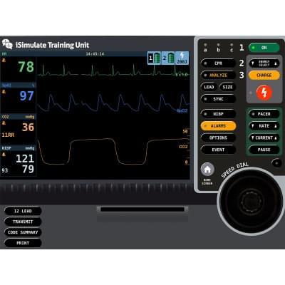 8000971 - Simulátor obrazovky pacientskeho monitoru LIFEPAK® 15 pre REALITi360