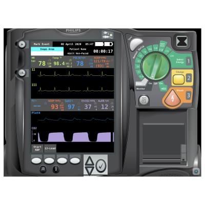 8000975 - Simulátor obrazovky pacientskeho monitoru Philips HeartStart MRx Emergency Care pre REALITi360