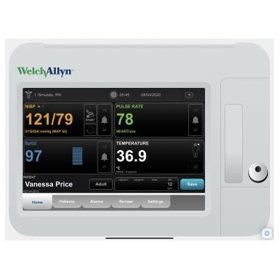 8000977 - Simulátor obrazovky pacientskeho monitoru Welch Allyn Connex® VSM 6000 pre REALITi360