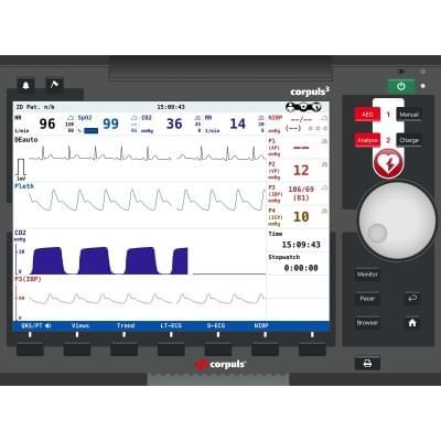 8001071 - Simulátor obrazovky pacientského monitora corpuls3T pre REALITi360