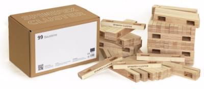 Dřevěná stavebnice SPINIFEX CLUSTER - 99 dílů