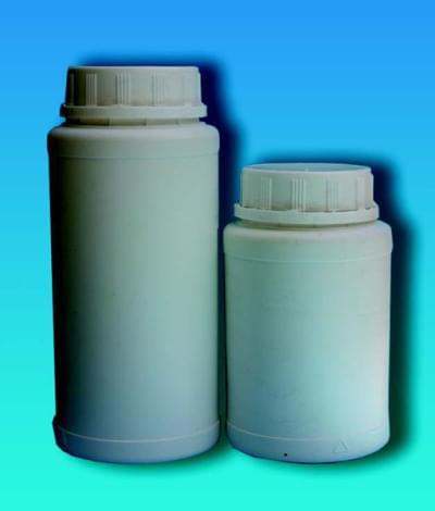 Fľaša na chemikálie, širokohrdlá, vrátane poistného uzáveru, biela, 850 ml