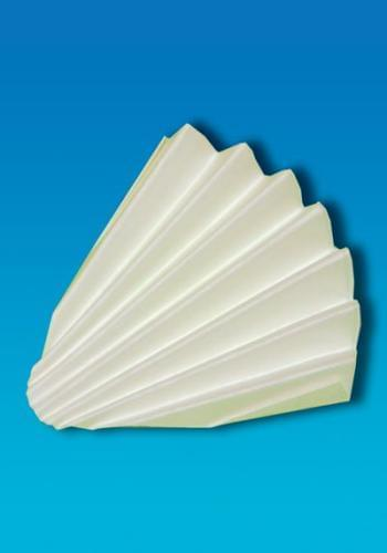 Kruhové výseky z filtračného papiera, skladané, průměr 110 mm
