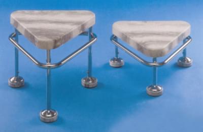 Pojízdná stolička výška 250 mm, kostra nerezová, antistatická