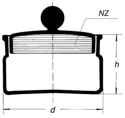 Odvažovačka so zabrúseným viečkom - vysoká, 60 ml