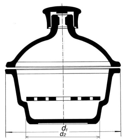Exsikátor s plastovým hmatníkom, 250 mm