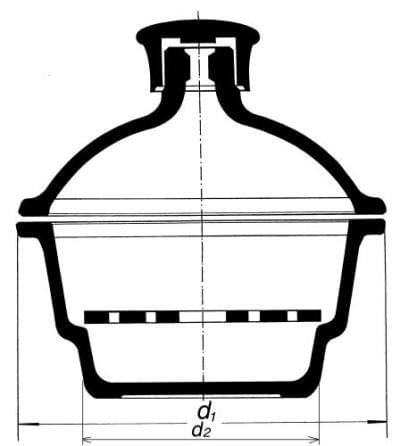 Exsikátor s plastovým hmatníkom, 300 mm