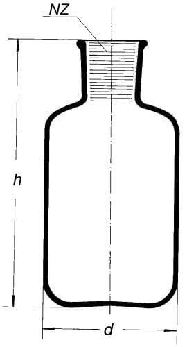 Fľaša zásobná na injekčné séra, s NZ 34/35