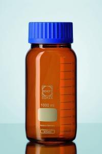Fľaša širokohrdlá hnedá, GLS 80 DURAN, 1000 ml