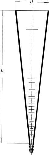 Valec sedimentačný podľa Imhoffa, 1000 ml