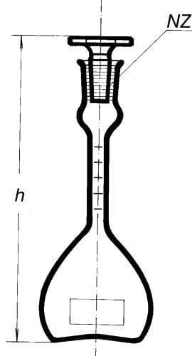 Pyknometer podľa Reischauera s ryskou a lievikom, 50 ml