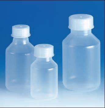 Láhev reagenční, šroubovací uzávěr, širokohrdlá, PP, objem 2000 ml