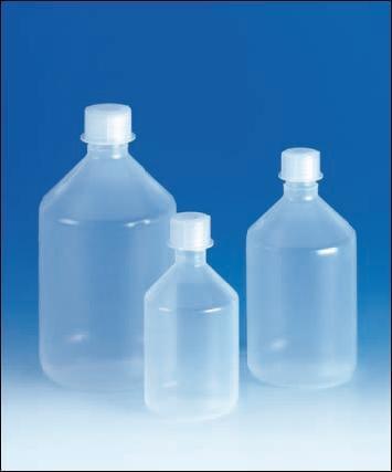Láhev reagenční, šroubovací uzávěr, úzkohrdlá, PP, 250 ml