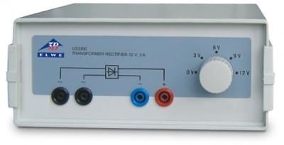 Transformátor s usměrňovačem 3/ 6/ 9/ 12 V (230 V, 50 / 60 Hz)