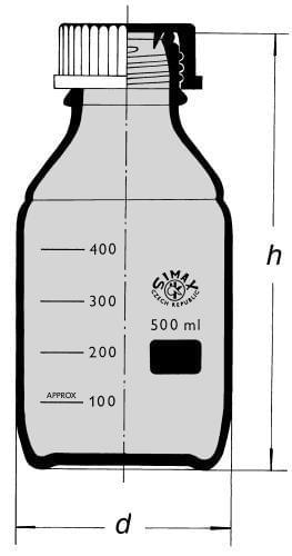 Láhev reagenční s GL 45, hnědá