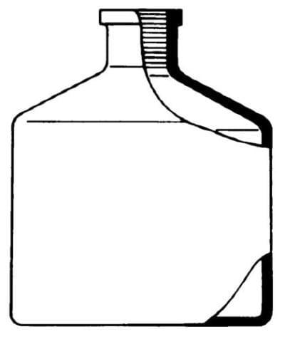 Fľaša zásobná k aut. byrete podľa Pelleta - hnedá