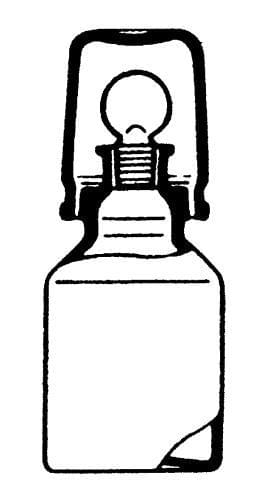 Fľaša na kyseliny, hnedá