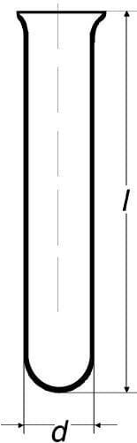 Zkumavka SIMAX s kulatým dnem, vyhnutý okra