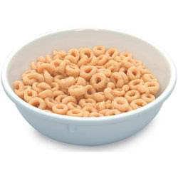 Cereálie Cheerious v misce