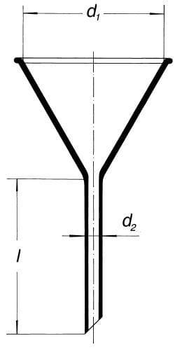 Nálevka s krátkým stonkem, úhel 60°
