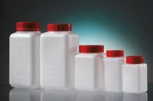 Láhev čtyřhranná, aseptická, HDPE, 1 000 ml
