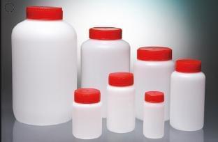 Láhev kulatá, aseptická, HDPE, 100 ml