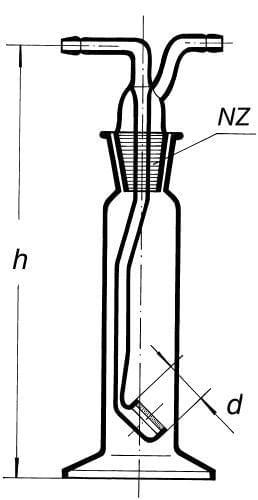 Premývačka s fritovým nástavcom, S 2, 100 ml