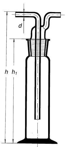 Premývačka podľa Drechslera s NZ 29/32, 250 ml