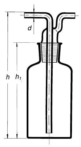 Premývačka podľa Drechslera s NZ 29/32, 500 ml