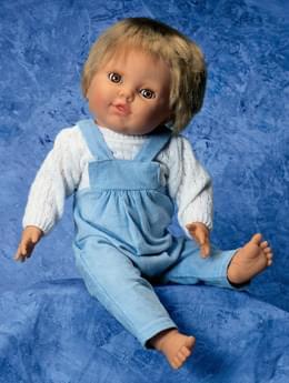 """W17006 - """"Fyzio"""" bábika, s chlapčenským oblečením"""