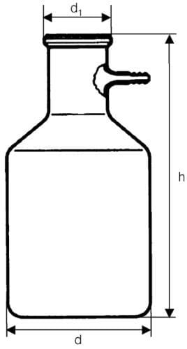 Fľaša odsávacia so sklenenou olivkou, 3000 ml