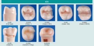 Model zubu pre prípravu piliera mostíka a čistenie zubu pred výplňou (zub č. 26)